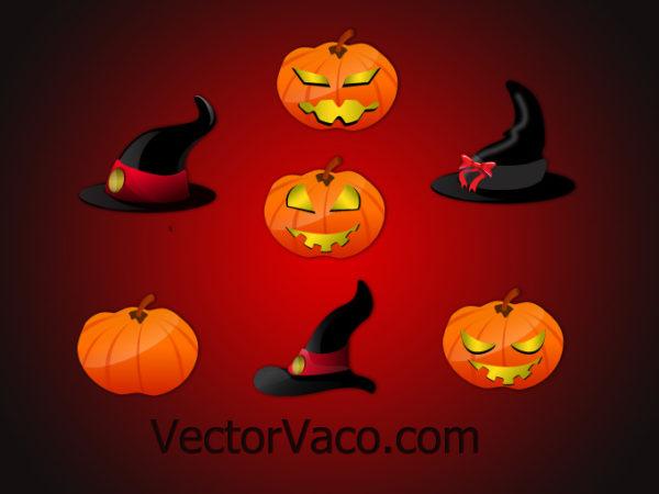 halloween-vectors-10153-600x450 ハロウィーンといえばカボチャ!とっても怖いクリップアート素材