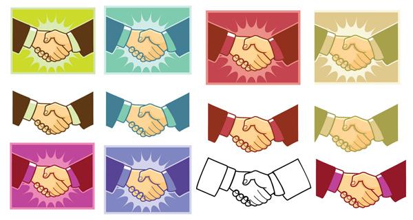 handshake-vector 契約成立!握手の無料ベクタークリップアート素材