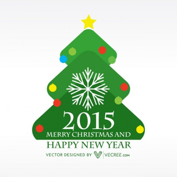 happy-new-year-in-christmas-tree-free-vector-600x600 かわいい!メリークリスマス&ハッピーニューイヤーの無料ベクターロゴ素材
