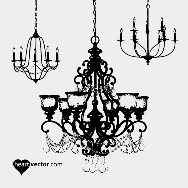 New iheartvector chandelier pack