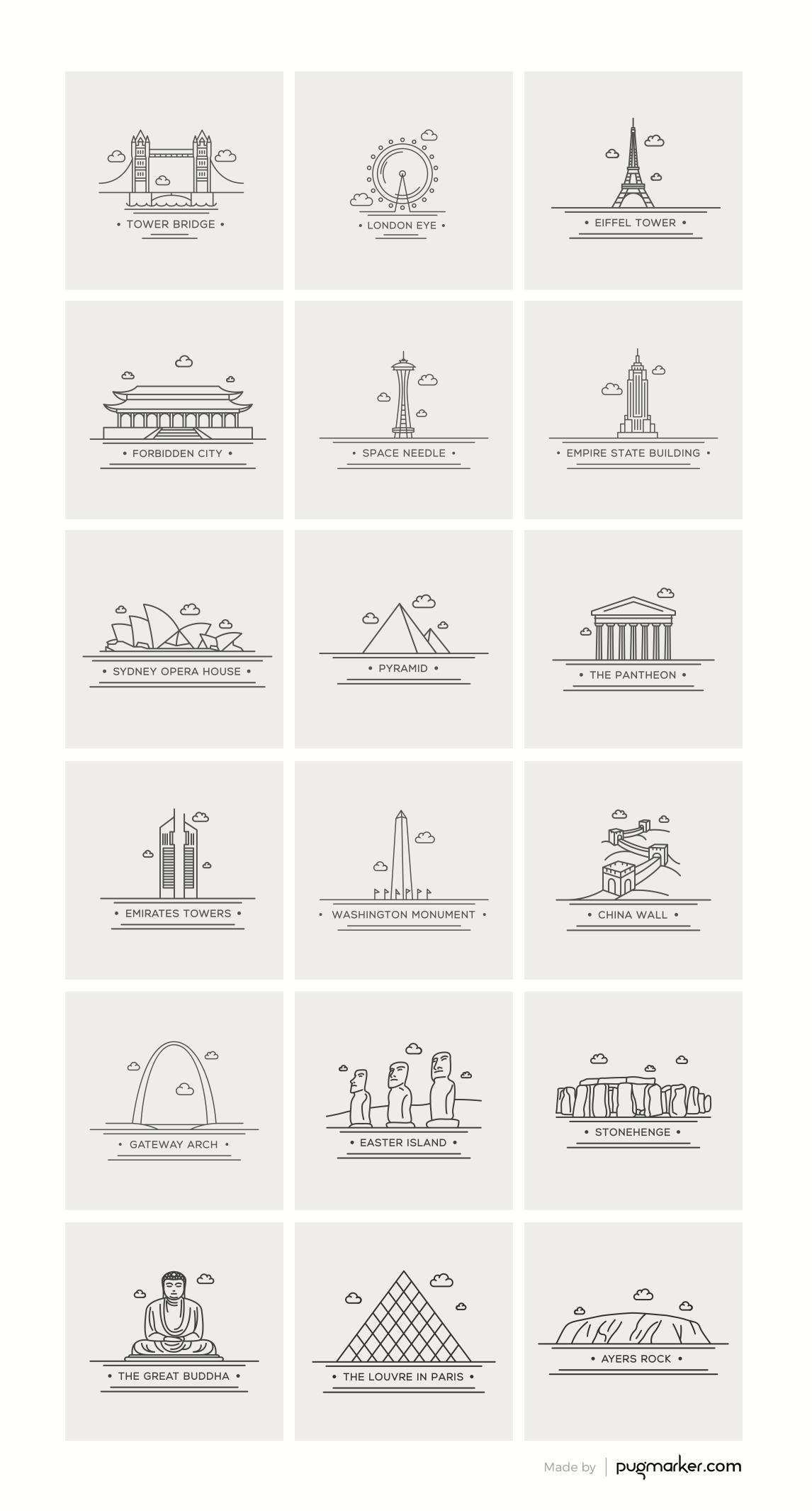 img_0386 世界のランドマークの高品位なクリップアート素材集(18種類)