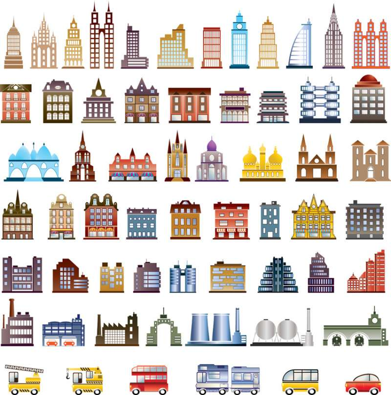 The main vector of house building \u2013 Vector Images \u2013 Free Vector Art Graphics