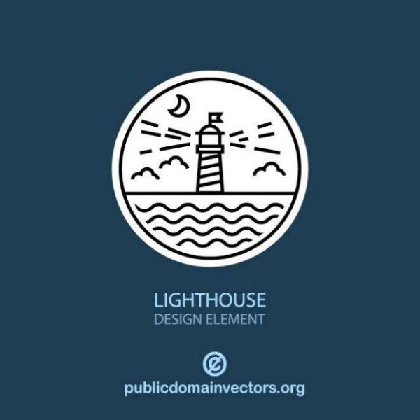 lighthouse-symbol-600x600 シンプルでかわいい灯台の無料イラスト素材