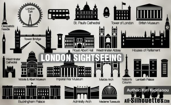 london_sightseeing-600x371 ロンドン人気の観光スポットを描いたシルエット素材
