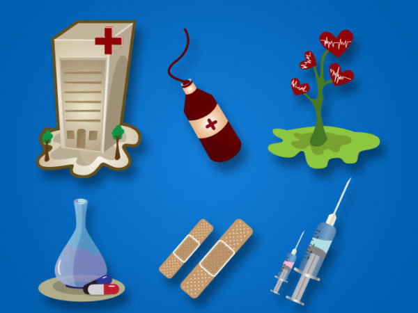 medical-vector-pack-10114-600x450 病棟・注射器・輸血・くすり・バンドエイドなど病院に関連するベクタークリップアート素材