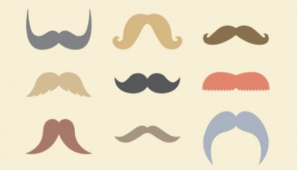 mustaches-600x343 ユニークな口ひげの無料ベクターイラスト素材