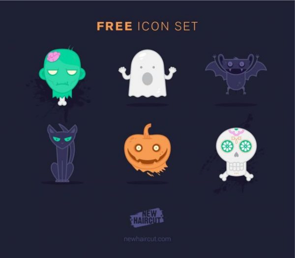 new_haircut_halloween_free_icon_set