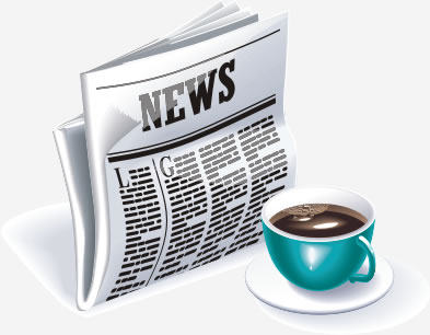 news-paper-vector 新聞とコーヒーの無料ベクタークリップアート素材