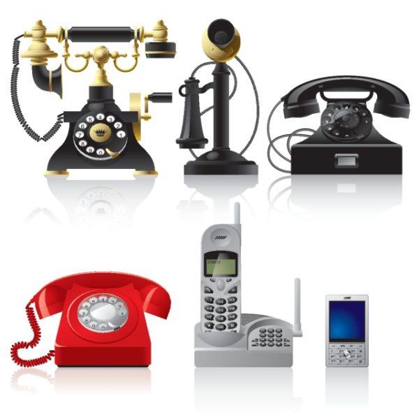 old-phone-vector-600x600 最新からアンティークまで6種類。高品位な無料ベクタークリップアート素材