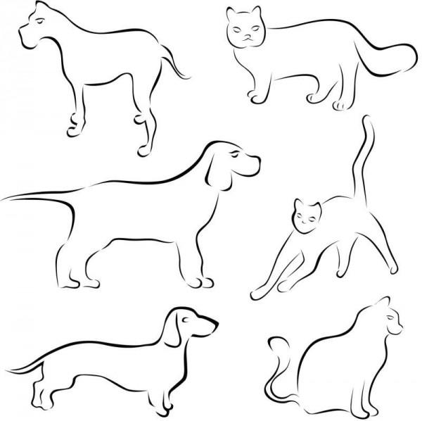 oul_anm-600x598 筆で描いたような犬と猫のベクタークリップアート・イラスト素材
