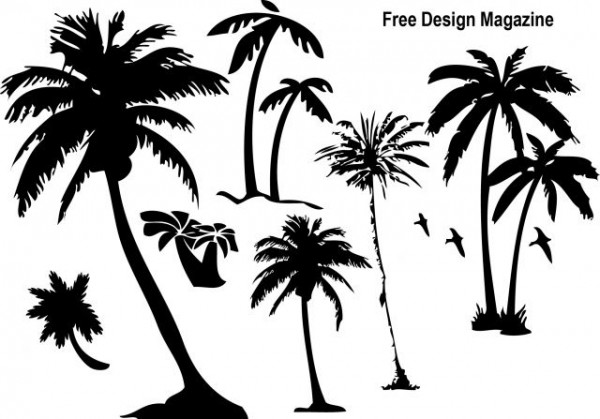 palmtree-600x419 夏デザイン!無料のパームツリー(椰子の木)シルエット素材