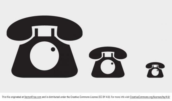 phone-icon-vector-600x354 ザ・昭和!黒電話のベクターフリーアイコン