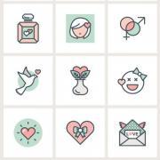 valentine-flat-line-icons