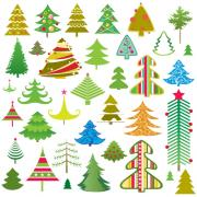 Lovely christmas tree vector