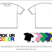 ROUNDNECK T-SHIRT WITH COLOR SELECTOR TEMPLATE