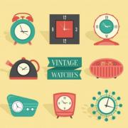 8-Retro-Clock-Design-Vector