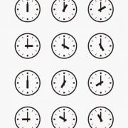 Set-of-Wall-Clocks-With-Another-Times