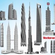 Vector.NET-Free-Vector-Art-Pack-32-Tallest-Skyscrapers