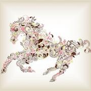 Pattern Horse Vector