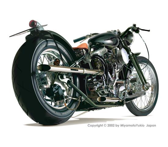 realistic-motorcycle かっこいい!迫力!リアルなバイクの無料ベクターイラスト素材