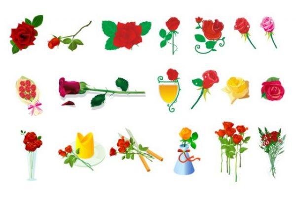 rose-vector-600x400 19種類の薔薇のイラスト素材。無料ベクターデータ