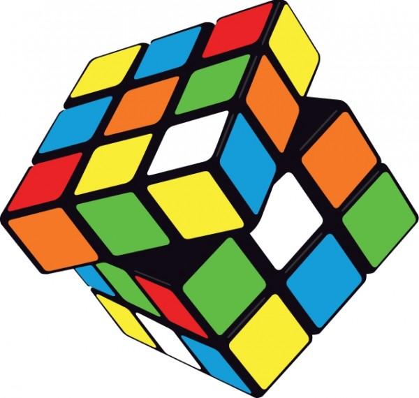 rubiks-cub-600x570 ルービックキューブ(途中)のフリーベクターイラスト素材