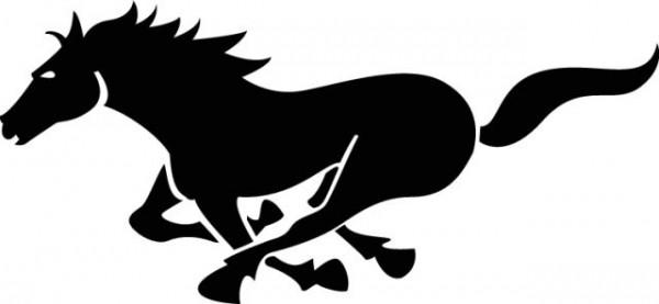 running-horse-free-vector-600x277 走る馬の無料ベクターシルエット素材