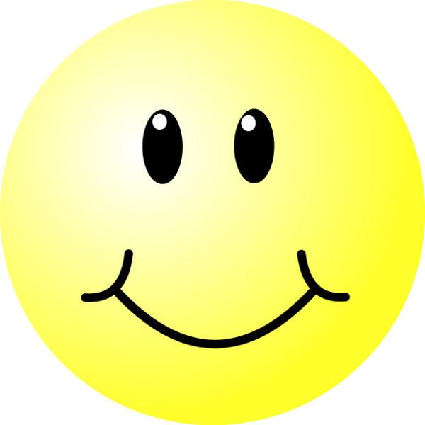 smiley-face-600x600 立体感のあるニコちゃんマークです。無料ベクターイラスト素材