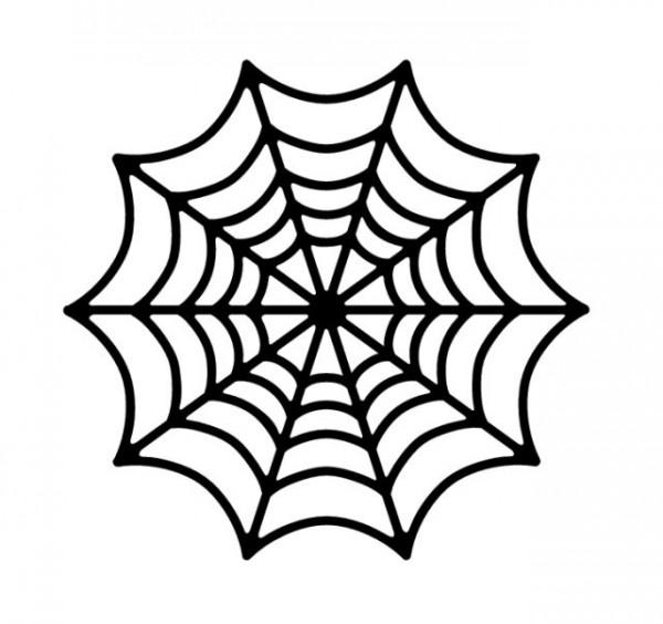spiderweb-600x564 蜘蛛の巣の無料ベクターシルエット素材