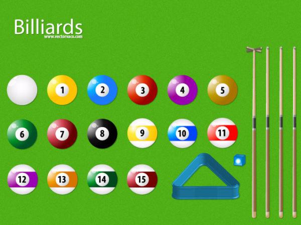 vector-billiard-set-11057-600x450 ビリヤード関連グッズのベクタークリップアート素材