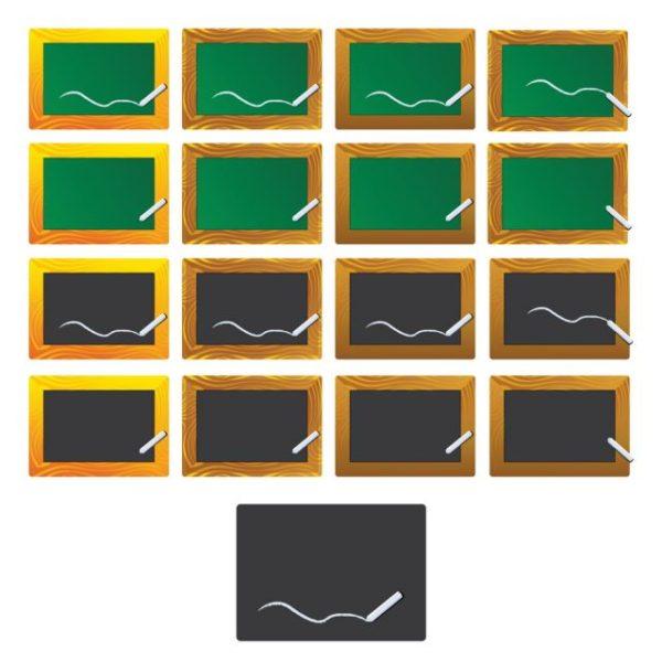 vector-chalkboard-cs-by-dragonart-600x600 白木とダークウッドの木枠で小さめの黒板素材。無料ベクタークリップアート素材