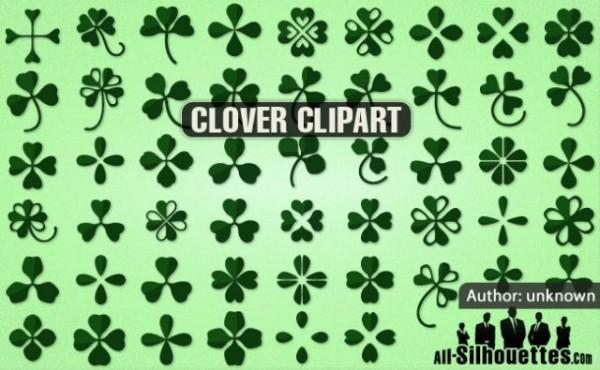 vector-clover-clipart-600x370 無料でダウンロード出来る51種類のクローバー・ベクター・クリップアート素材