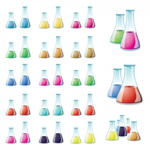 vector-glass-lab-bottle-cs-by-dragonart カラフルで綺麗な液体が入ったフラスコ。無料ベクタークリップアート素材