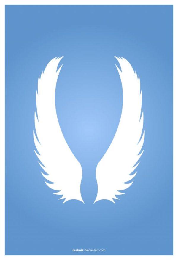 vector-wings-600x879 純白が綺麗!天使の羽の無料ベクターイラスト素材