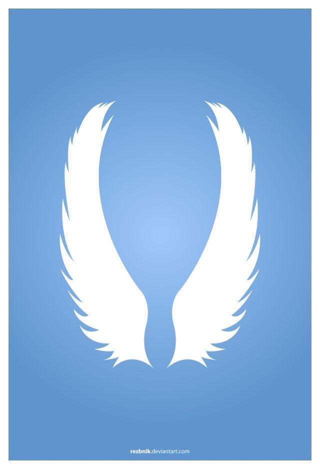 純白が綺麗天使の羽の無料ベクターイラスト素材 All Free Clipart