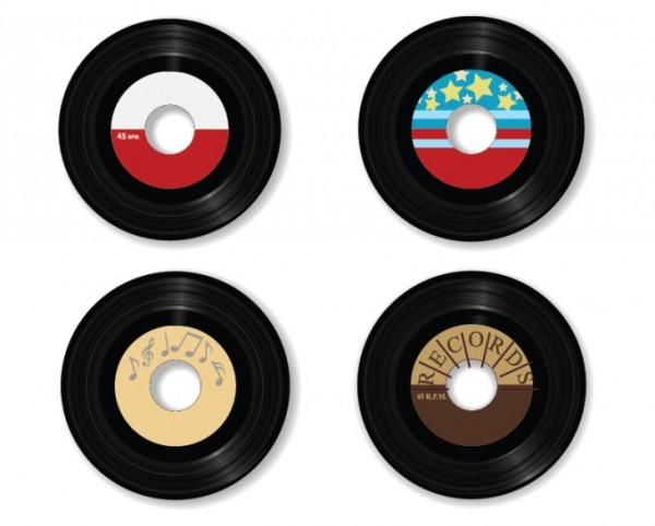 vinyl-vectors-600x482 なつかしいレコード盤(SP)の無料ベクタークリップアート素材