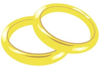 wedding-ring-3 ウェディング素材・ゴールドの結婚指輪。無料ベクタークリップアート