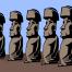モアイ像をシンプルに描いた無料ベクタークリップアート素材