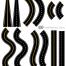 カーブ、S字、直線、遠近など道路の無料イラストパーツ(12種類)